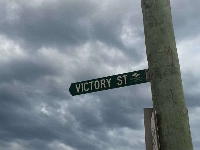 Victory Street Sign