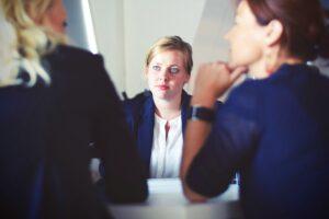 businesswoman interview meeting