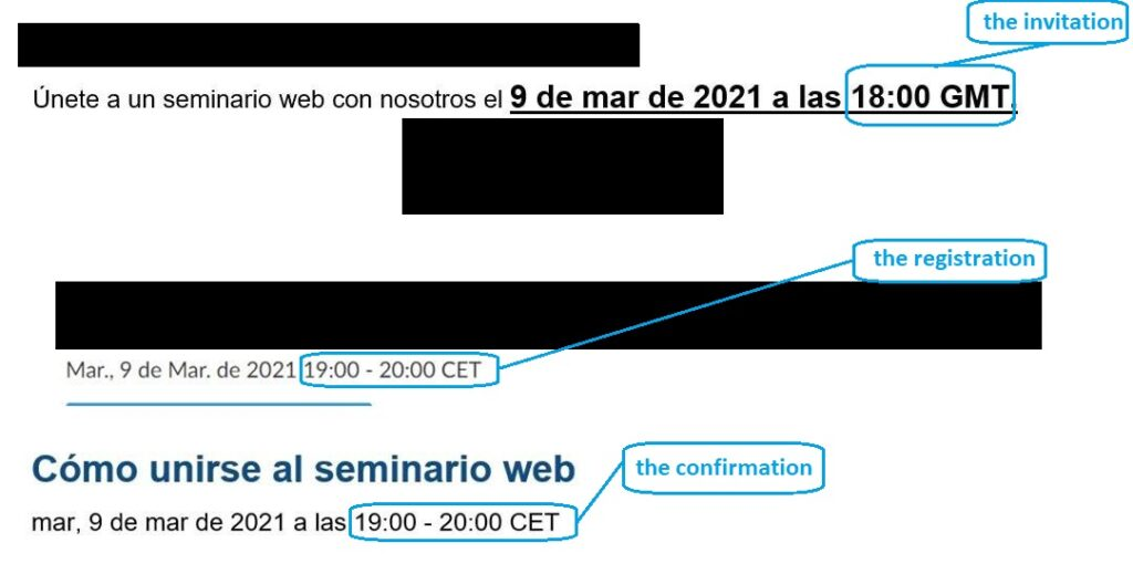 The invitation, the registration and the confirmation in a nutshell